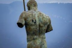 Den stora manstatyn i Pompei parkerar arkivfoto