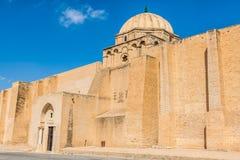 Den stora moskén av Kairouan i Tunisien Royaltyfria Foton