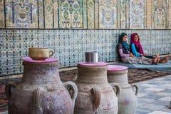 Den stora moskén av Kairouan i Tunisien royaltyfria bilder