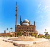 Den stora moskén av Muhammad Ali Pasha eller alabaster- moské i Kairo arkivbilder