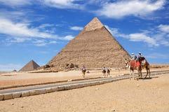 Den stora pyramiden av Giza, Kairo Egypten Royaltyfri Fotografi