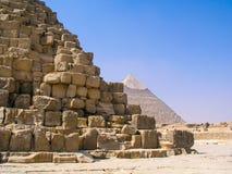 Den stora pyramiden av Giza, pyramid av Khufu, pyramid av Cheops Royaltyfri Fotografi