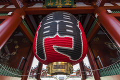 Den stora röda lyktan på Kaminarimonen, Senso-ji, Tokyo, Japan Royaltyfria Bilder