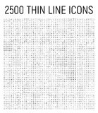 Den stora samlingen av 25 uppsättningar gör linjen symbol tunnare stock illustrationer