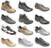 den stora samlingen shoes sporten Arkivfoto