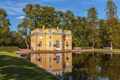 Den stora slotten av Tsarskoye Selo Catherine Chapel Church Resurrection Pushkin nära StPetersburg, Ryssland royaltyfria foton