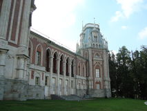 Den stora slotten i Tsaritsyno Arkivfoto