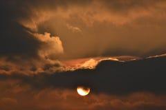 Den stora solnedgången Royaltyfri Fotografi