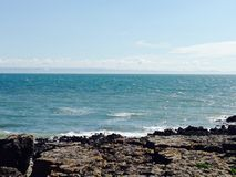 Den stora stranden skjuter ner Bridgend Royaltyfri Bild