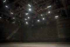 Den stora studion för gör uppsättningen i film att avbilda Arkivfoton