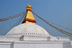 Den stora stupaen Bodnath i Katmandu Royaltyfria Foton