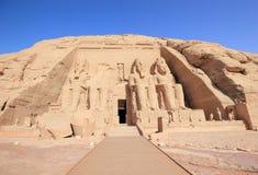 Den stora templet av Ramesses II abuegypt simbel royaltyfria bilder