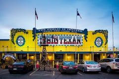 Den stora texanen Restaurang i USA arkivbild