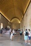 Den stora Tinelen, Palais des Papes, Avignon, Frankrike Arkivbild