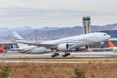Den stora trafikflygplanet tar av Arkivbild