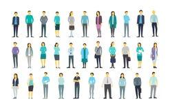 Den stora uppsättningen mycket folk buntar i linjen folkmassa många personer din vektor för bruk för designillustrationmateriel stock illustrationer
