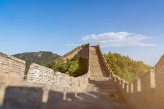 Den stora väggen av överkanten av berget, Kina Royaltyfria Foton