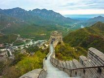 Den stora väggen av Kina royaltyfri fotografi