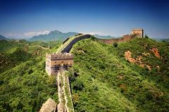 Den stora väggen av Kina Arkivfoto