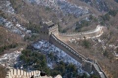 Den stora väggen av Kina i Badaling, Kina arkivbild