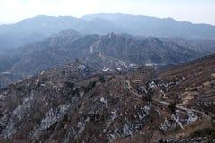 Den stora väggen av Kina i Badaling, Kina royaltyfria foton