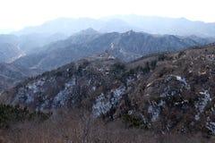 Den stora väggen av Kina i Badaling, Kina fotografering för bildbyråer