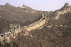 Den stora väggen av Kina på skymning Royaltyfri Fotografi