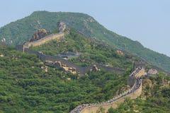 Den stora väggen av Kina trängde ihop Arkivbild