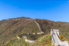 Den stora väggen, Mutianyu del Arkivbild