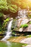 Den stora vattenfallet på vaggar Arkivfoto