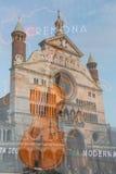 Den storartade domkyrkastaden av Cremona Arkivbilder