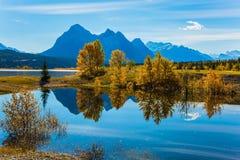 Den storartade konstgjorda sjön Abraham Royaltyfri Bild