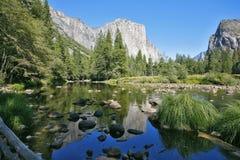 Den storartade Yosemite dalen Arkivfoto