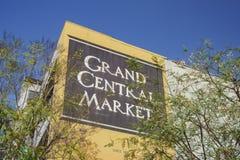 Den storslagna centralen marknadsför Arkivbilder