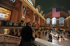 Den storslagna centralstationen Manhattan N.Y Fotografering för Bildbyråer