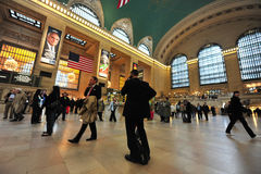 Den storslagna centralstationen Manhattan N.Y Arkivbilder