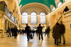 Den storslagna centralstationen rusar Royaltyfri Foto