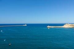 Den storslagna hamnen av Valletta, Malta fotografering för bildbyråer