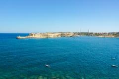 Den storslagna hamnen av Valletta, Malta royaltyfri foto
