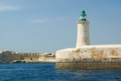 Den storslagna hamnen av Valletta, Malta royaltyfria foton