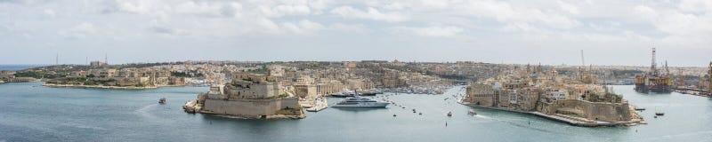 Den storslagna hamnen Valletta Malta Royaltyfria Bilder