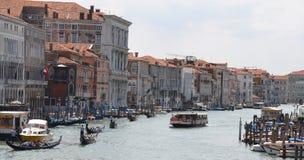 Storslagen kanal - Venedig Italien Royaltyfri Bild