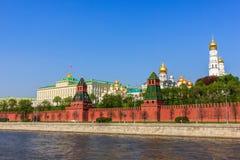 Den storslagna Kremlslotten, Moskva  Royaltyfri Fotografi