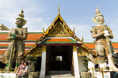Den storslagna slotten - Bangkok Royaltyfri Foto