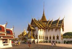 Den storslagna slotten, Bangkok, Thailand Arkivfoton
