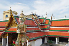 Den storslagna slotten i Bangkok Royaltyfri Fotografi