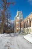 Den storslagna slotten i Tsaritsyno, Moskva, Ryssland Royaltyfri Bild