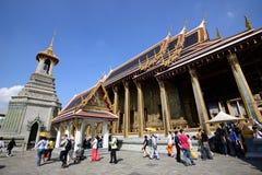 Den storslagna slotten och templet av Emerald Buddha Royaltyfria Foton