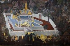 Den storslagna slotten och templet av Emerald Buddha Royaltyfri Fotografi