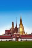 Den storslagna slotten & Wat Phra Kaew (Emerald Buddha Temple), Bangkok, Thailand. gränsmärke av Thailand. Arkivbild